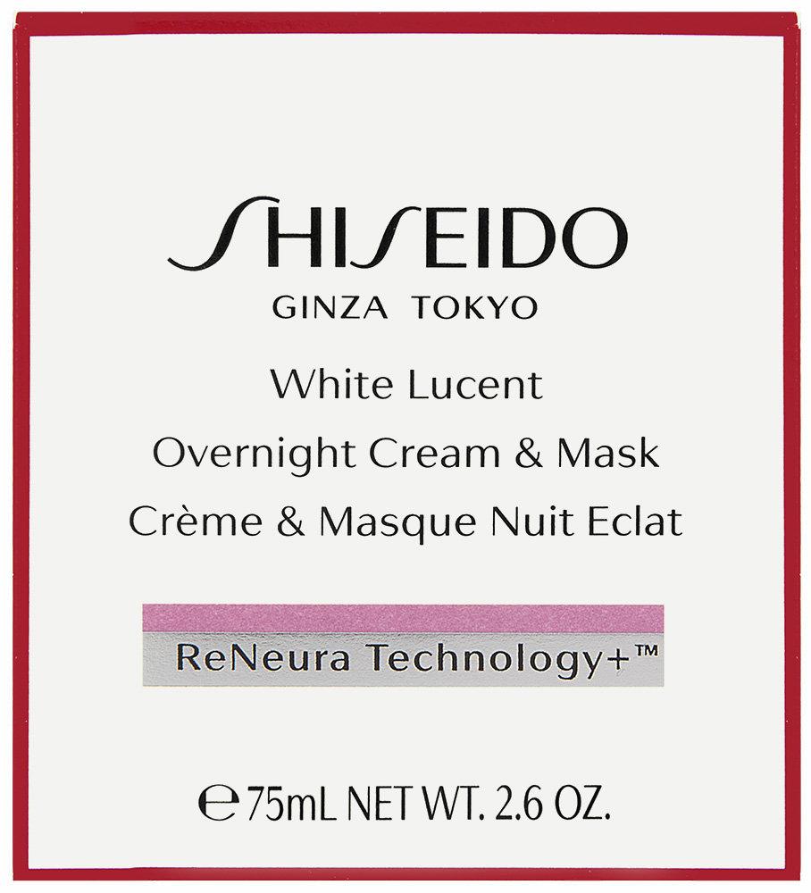 Shiseido White Lucent Overnight Cream & Gesichtsmaske