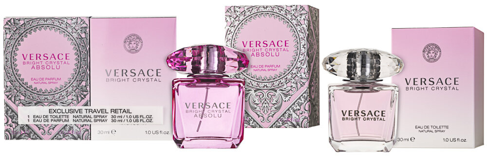 Versace Bright Crystal EDT & Versace Bright Crystal Absolu EDP Geschenkset