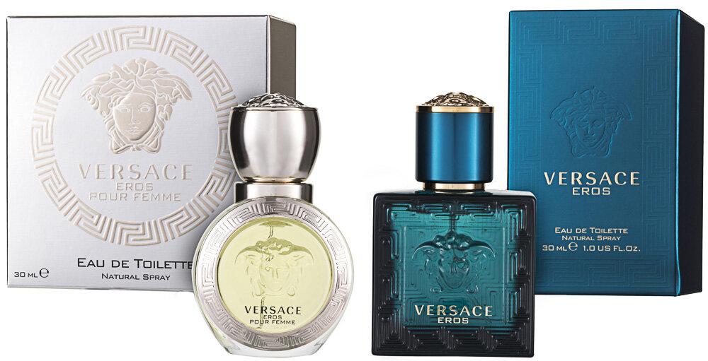 Versace Eros Pour Homme + Pour Femme EDT Geschenkset